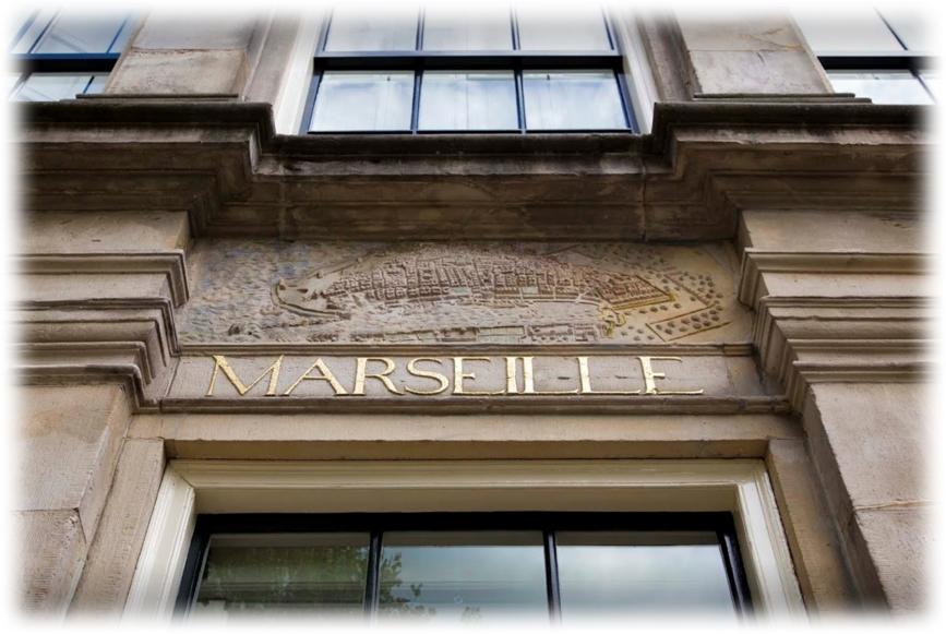 Original Map of Marseille Plaque | Huis Marseille