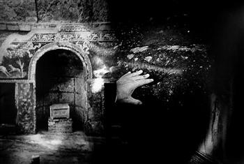 Hand on Stone, Pompeii  |  Itineraries  | Date Unknown | Bavčar
