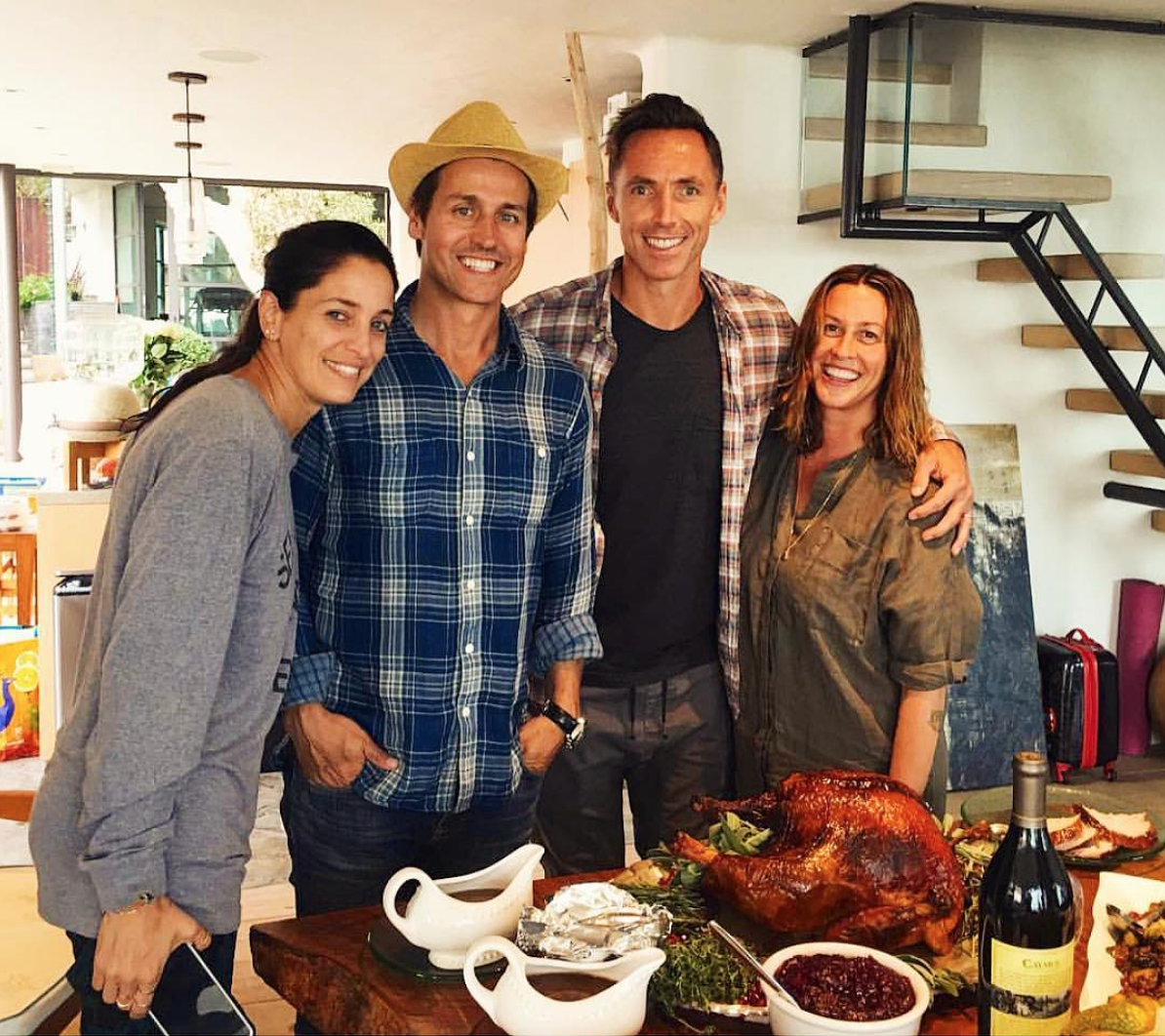 My first crack at cooking a Canadian Thanksgiving! Thankful for these superstar maple leaves — STEVE NASH, ALANIS, RAINE MAIDA & CHANTAL KREVIAZUK
