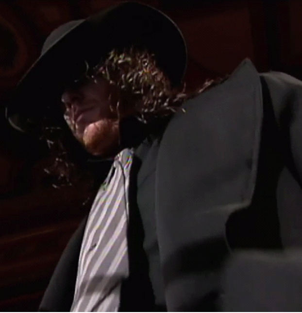 This is Taker's most menacing necktie.
