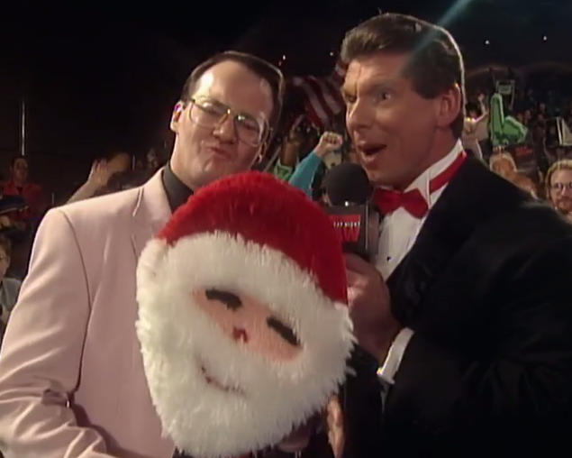 A tennis racket dressed up like Santa Claus is not going to cut it as an announcer for long.