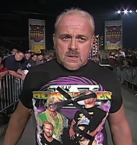 These shirts available for $19.99! Just call 1-900-SHOP-WCW!