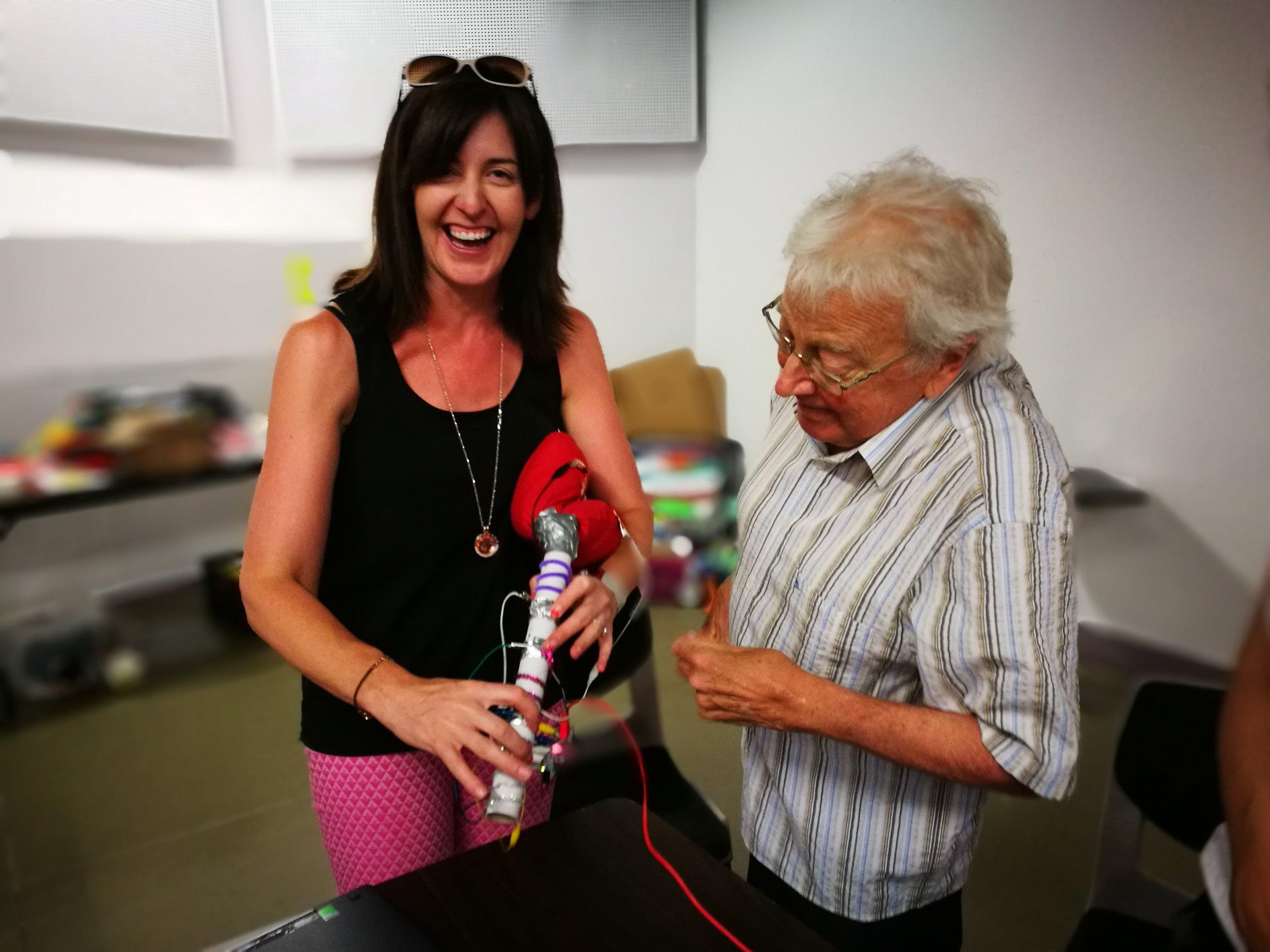 Makey Makey Uillinn Piper with smiling friend.jpg