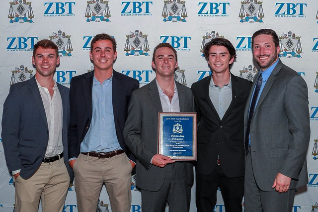 The brothers of Zeta Beta Tau had a pretty good time at the International ZBT Convention in LA. We are proud to congratulate Cody Taylor for winning President of the Year, and also our chapter for taking home awards in Outstanding Delegation and Best Risk Management Program. Pretty damn good to be a ZBT.
