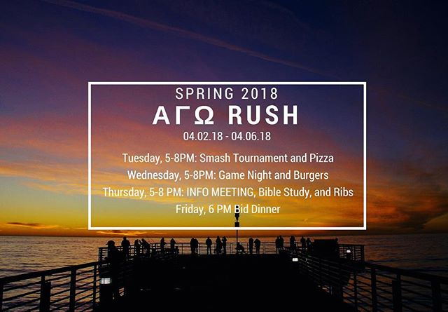 RUSH IS HERE!!!! #springrush2018 #rushAGO #RushΑΓΩ #ifc #ifcspringrush #ucsbAGO #ucsbΑΓΩ #ucsbifc