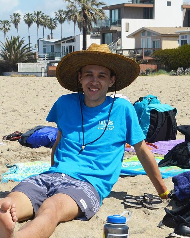 "Our #brooftheweek goes to Ethan ""Solid Snake"" McSwain for setting up our awesome volleyball social with @ucsb_tridelta! Our #weekendwarrior goes to Alex ""Ermac"" Gifford for being the ""only guy I saw in the house"" - T.J. ""Smaug"" Berry! Congrats boys #AGbrOs #RushAGO"