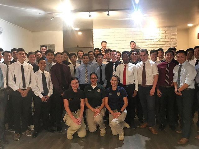 A big thank you to the men and women who keep the streets of Isla Vista safe! It was a privilege to have these detectives come and speak on pressing matters in our community including sexual assault prevention. We look forward to working with the UCSB Police Department in order to ensure that people stay safe and educated. #kappasigma