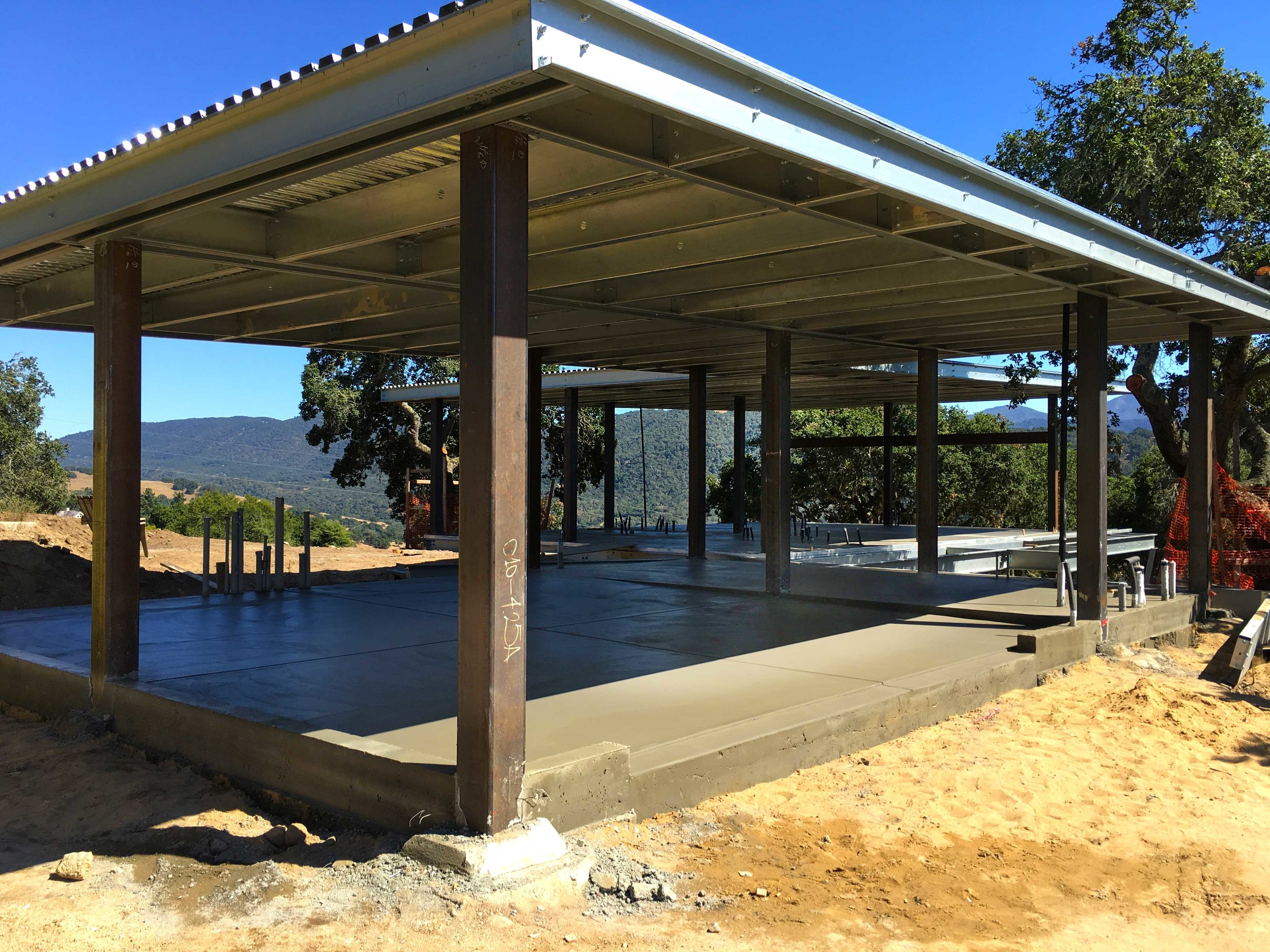 Concrete floors poured throughout the house.