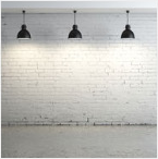 Modern White Brick Wall