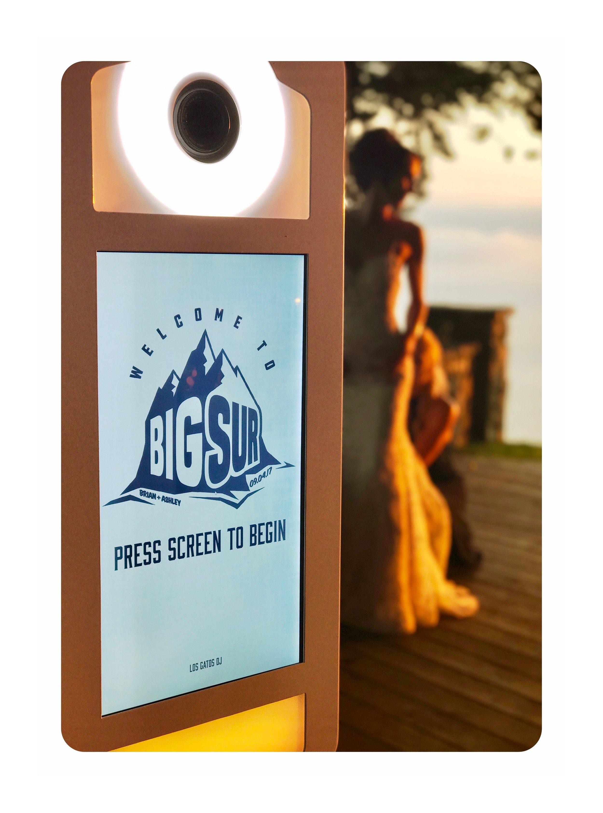 Los Gatos DJ - Photo Booth Touchscreen at Point 16 Big Sur Wedding 2017.JPG