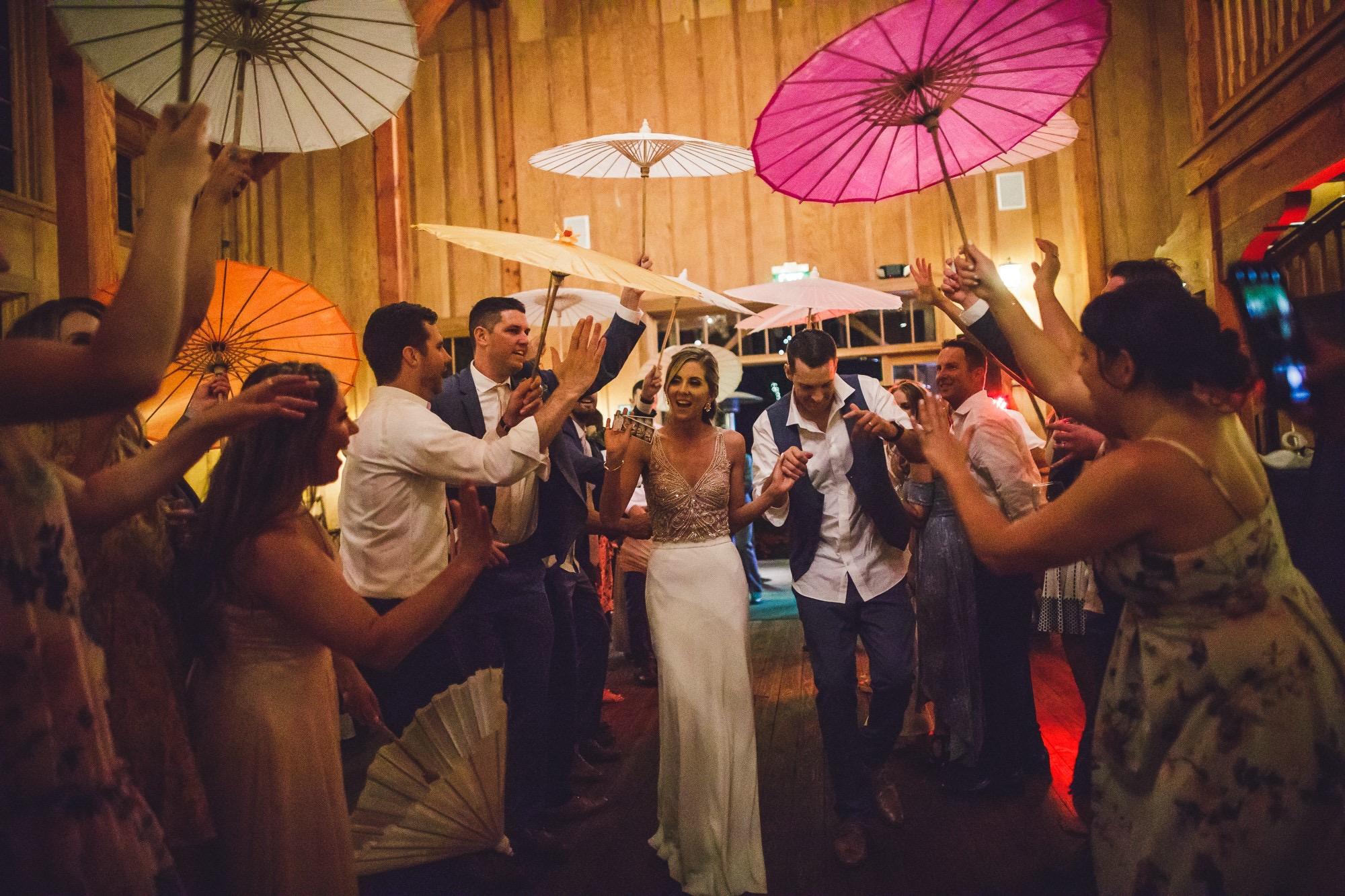 Los Gatos DJ - Nestldown Wedding - Grand Exit from the Barn