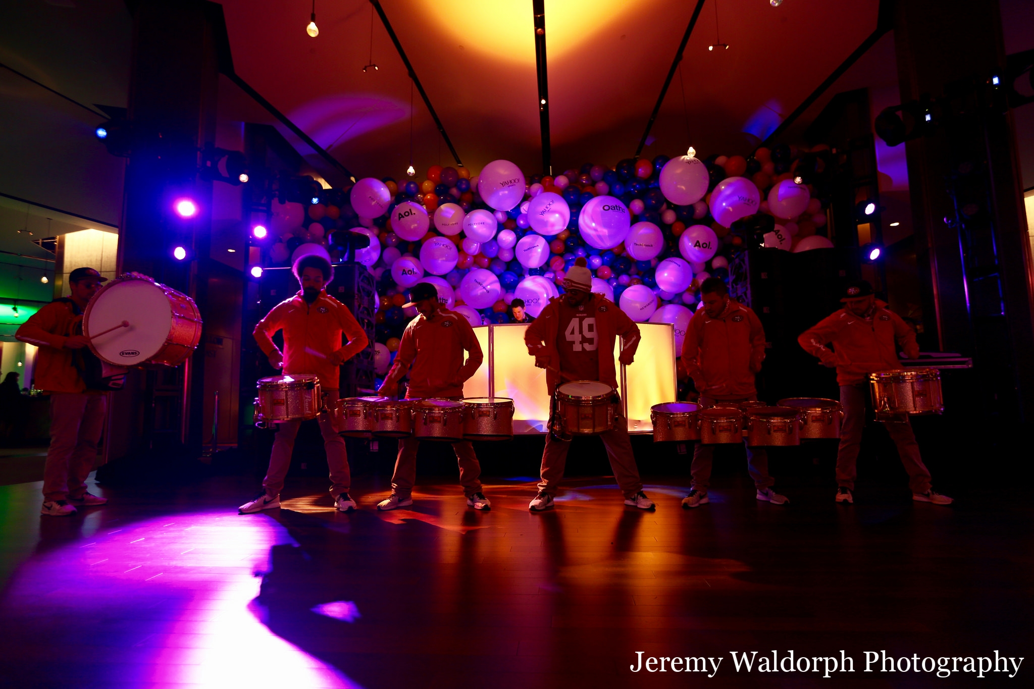 Los Gatos DJ - Oath YEP Holiday Party 2017 - SF 49ers Drumline - Jeremy Waldorph Photo.jpg