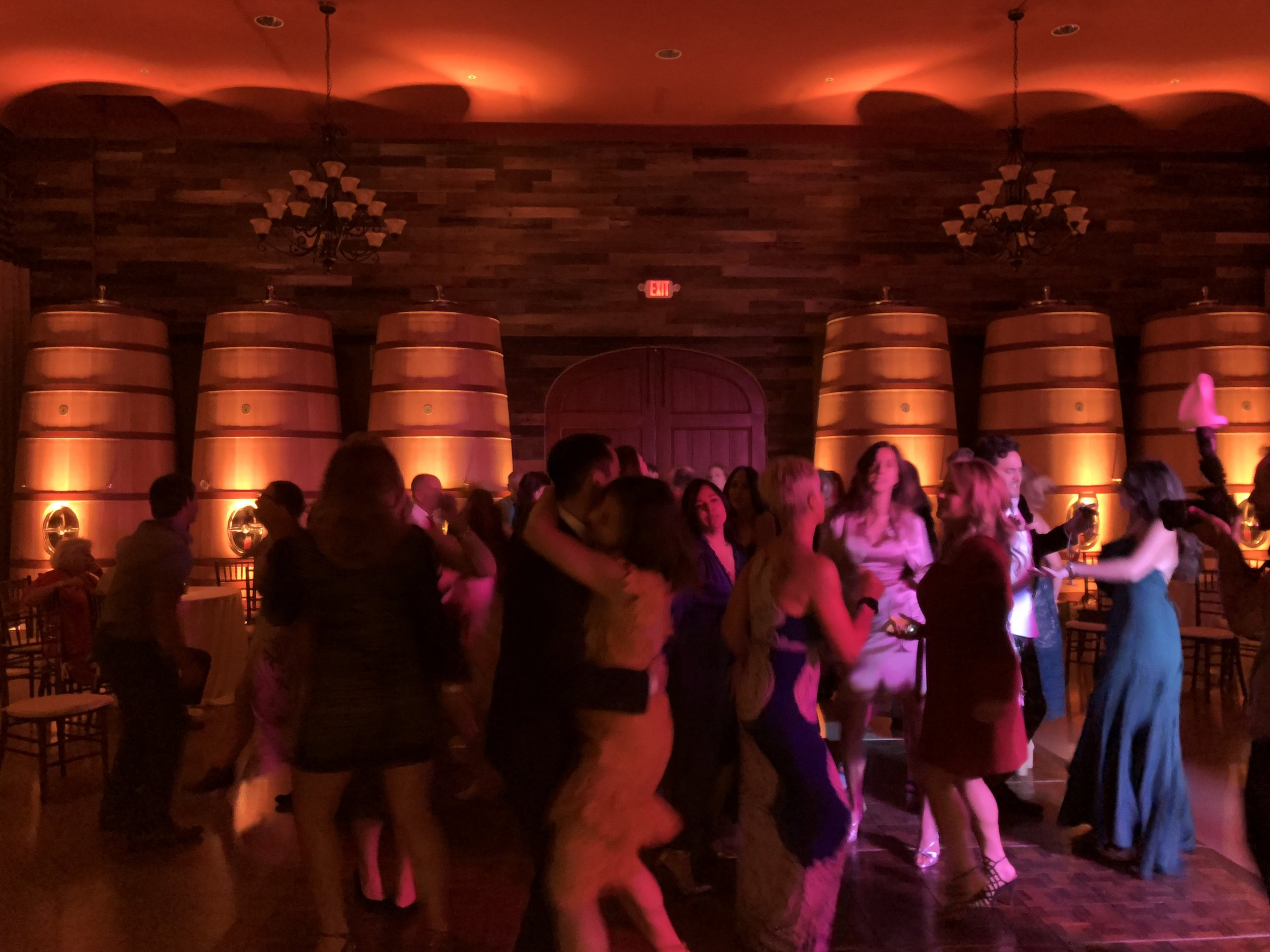 Los Gatos DJ - Regale Winery Wedding - Amber Uplighting and Dance Lights.jpg