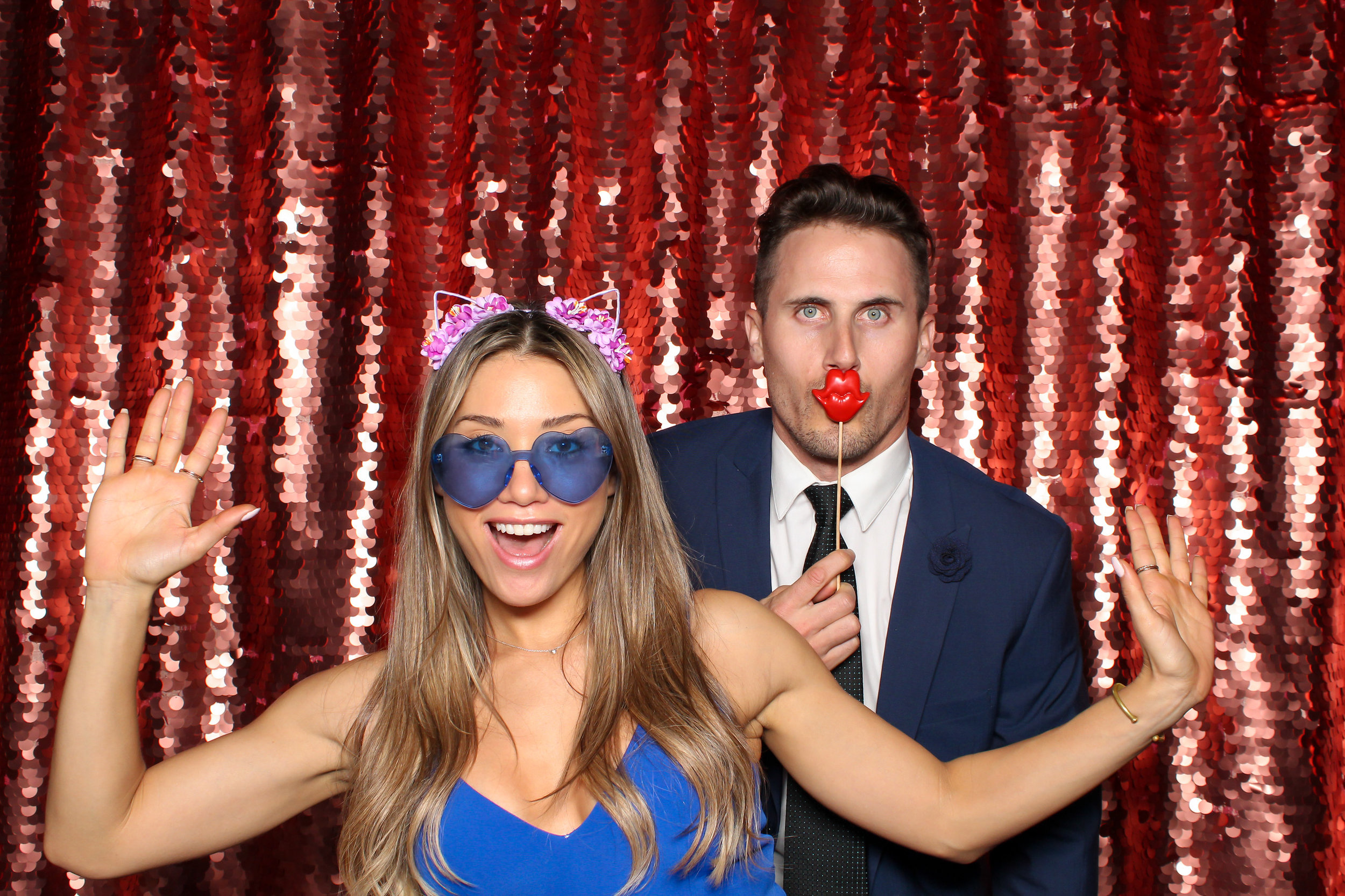 LOS GATOS DJ - Jess & Joe Nestldown Wedding - Wedding Guests in LG Photo Booth.jpg