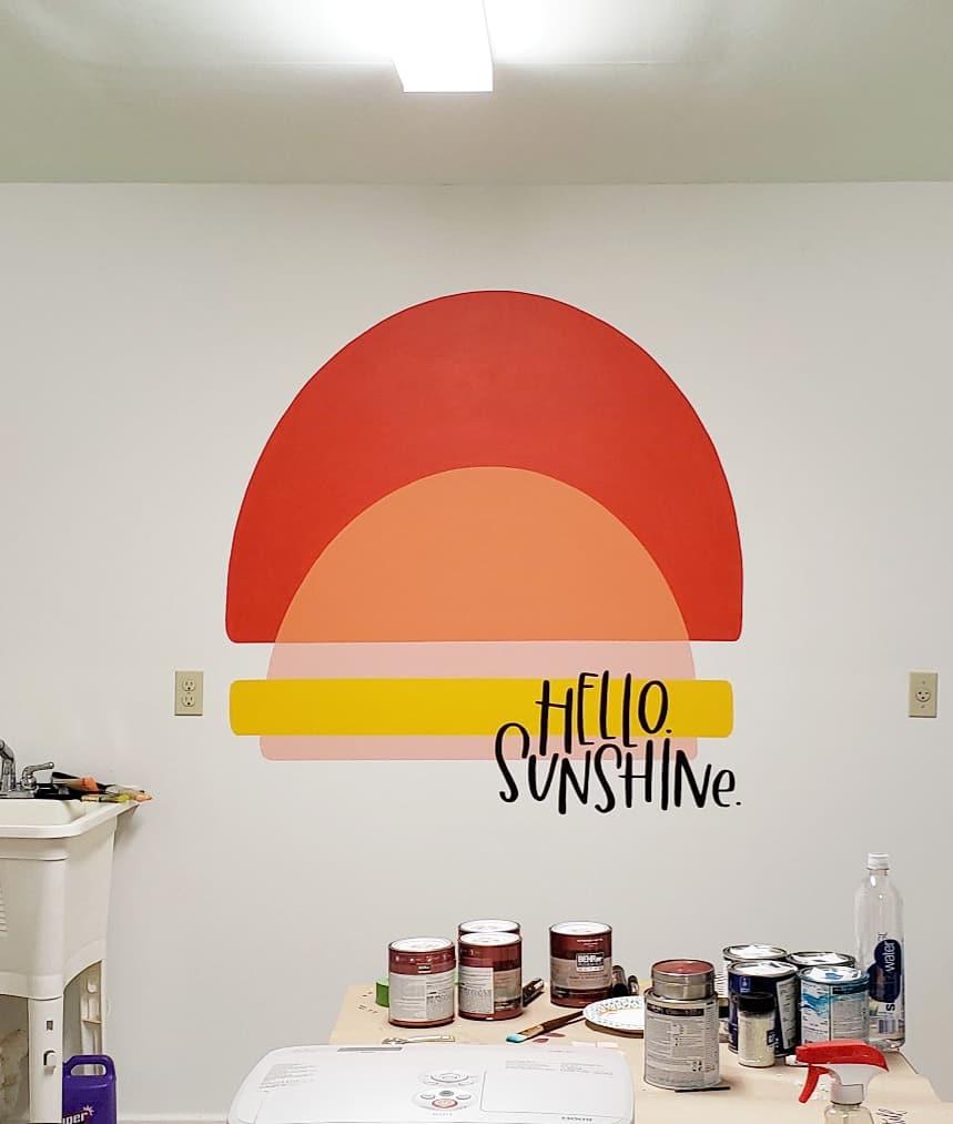 Ink Letter Love Sunshine Mural