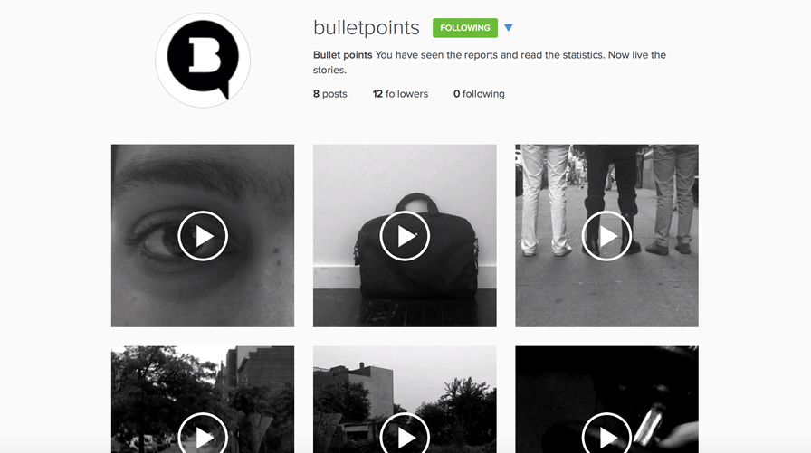 The vignettes are intended for distribution through Instagram- the social media of choice for the at-risk youth.