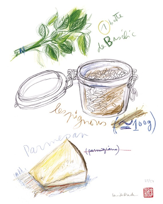 PESTO INGREDIENTS - 8 X 10 Limited edition print