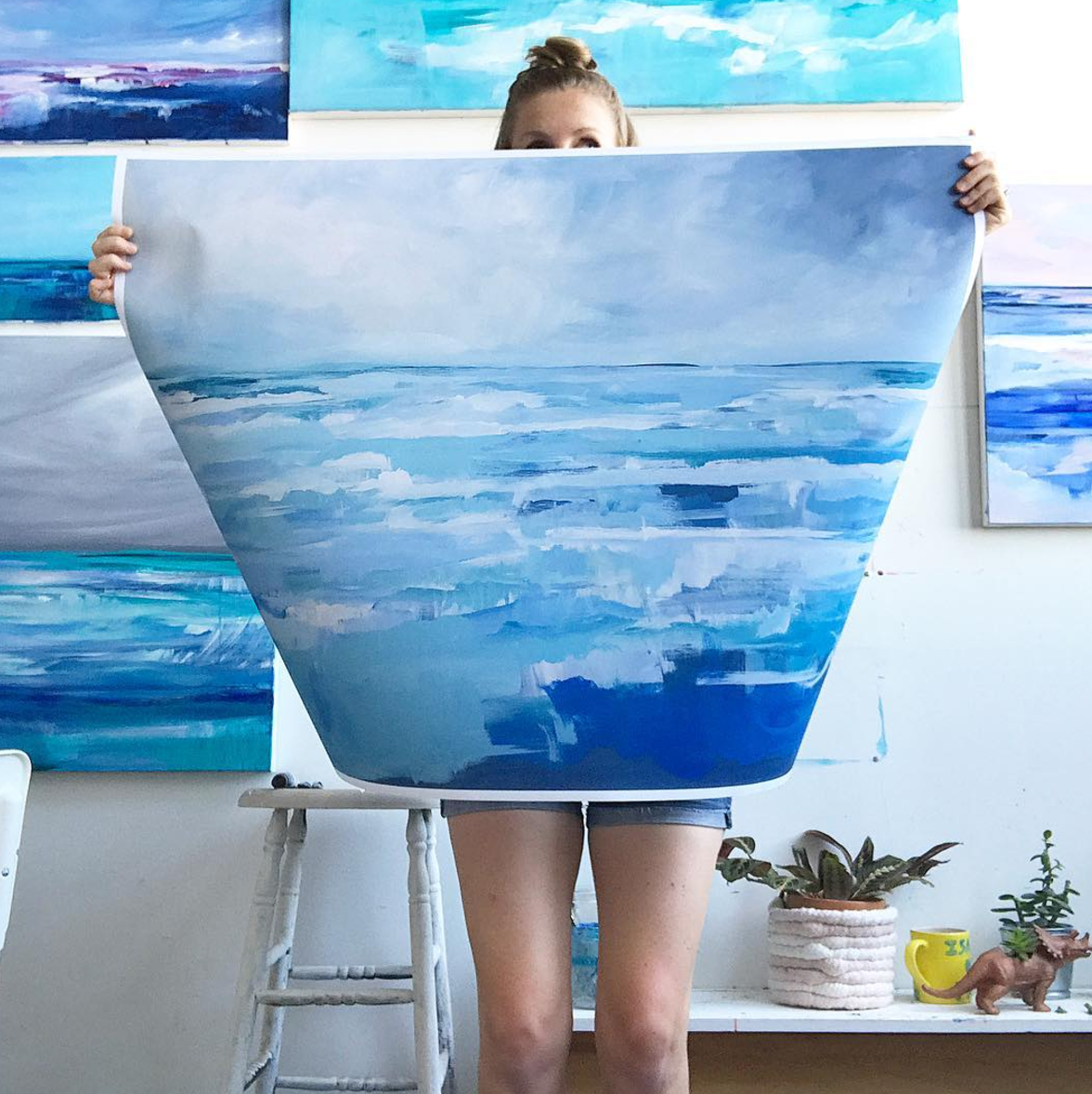 "Oversized prints!  pictured here: "" Summer Storm""  print in 30x40.  Selfie by me. ;)"
