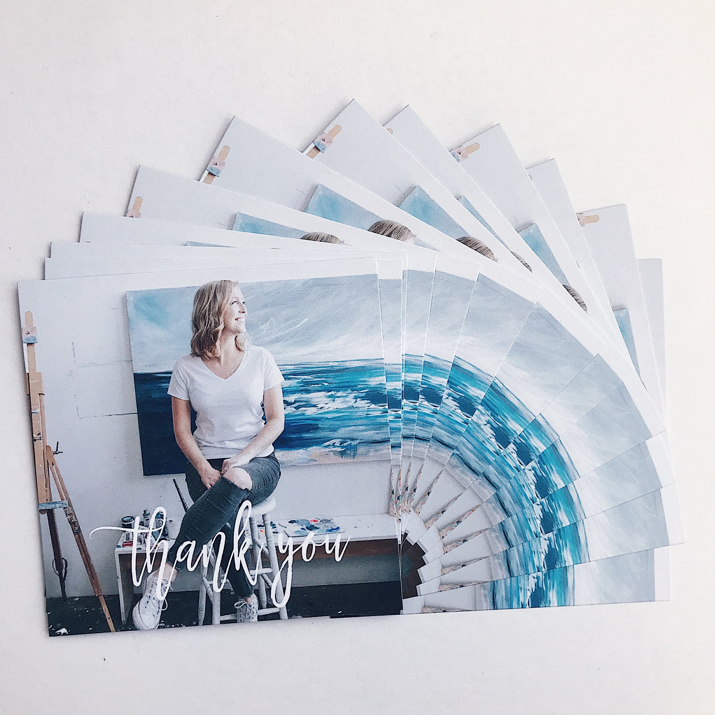 photo of me in my studio by  Amy Frances Photo , printed on cards by  Mixbook .