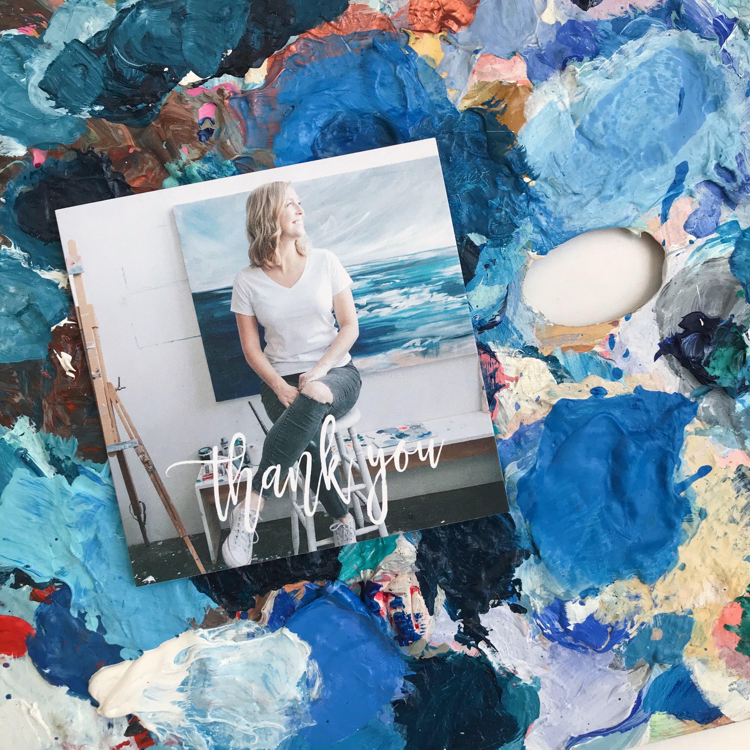 Mixbook Thank You Card by Megan Elizabeth of Art by Megan