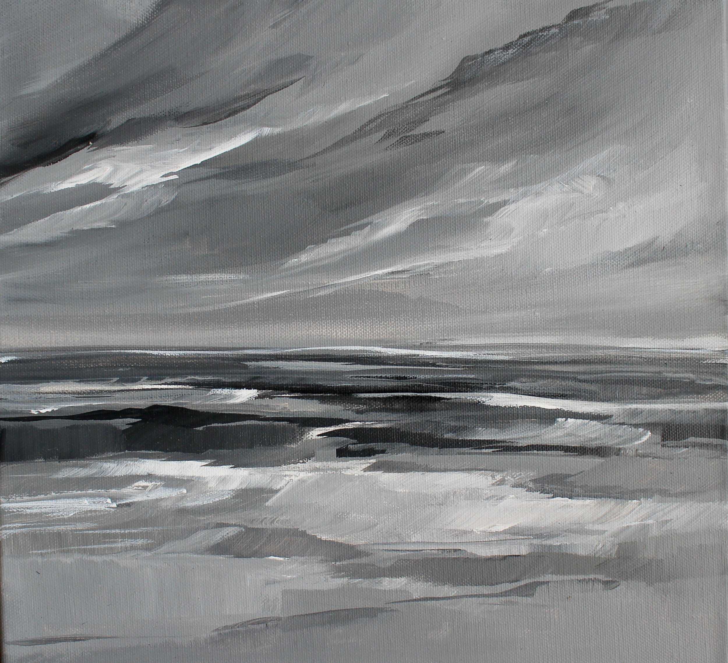 """Gray Sea"" 8x10 print."
