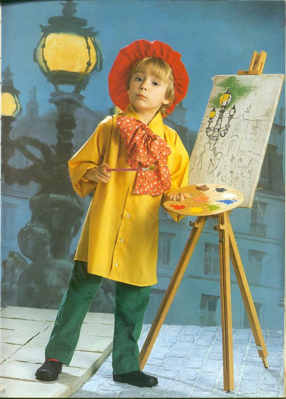 I love the look of this little artist! Image courtesy of  Pinterest.