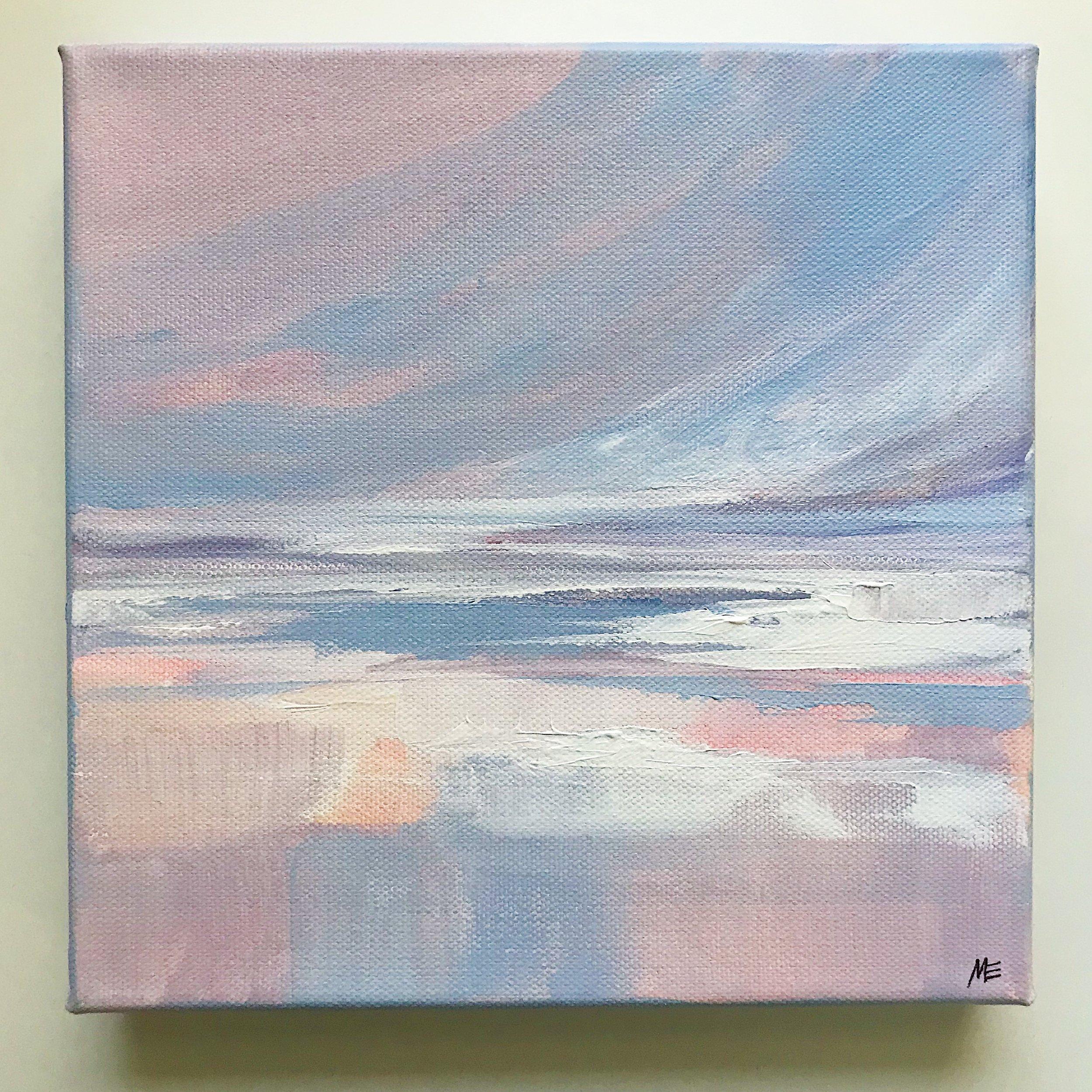 """""""Morning Beach Walk"""" by Megan Elizabeth, 2019."""