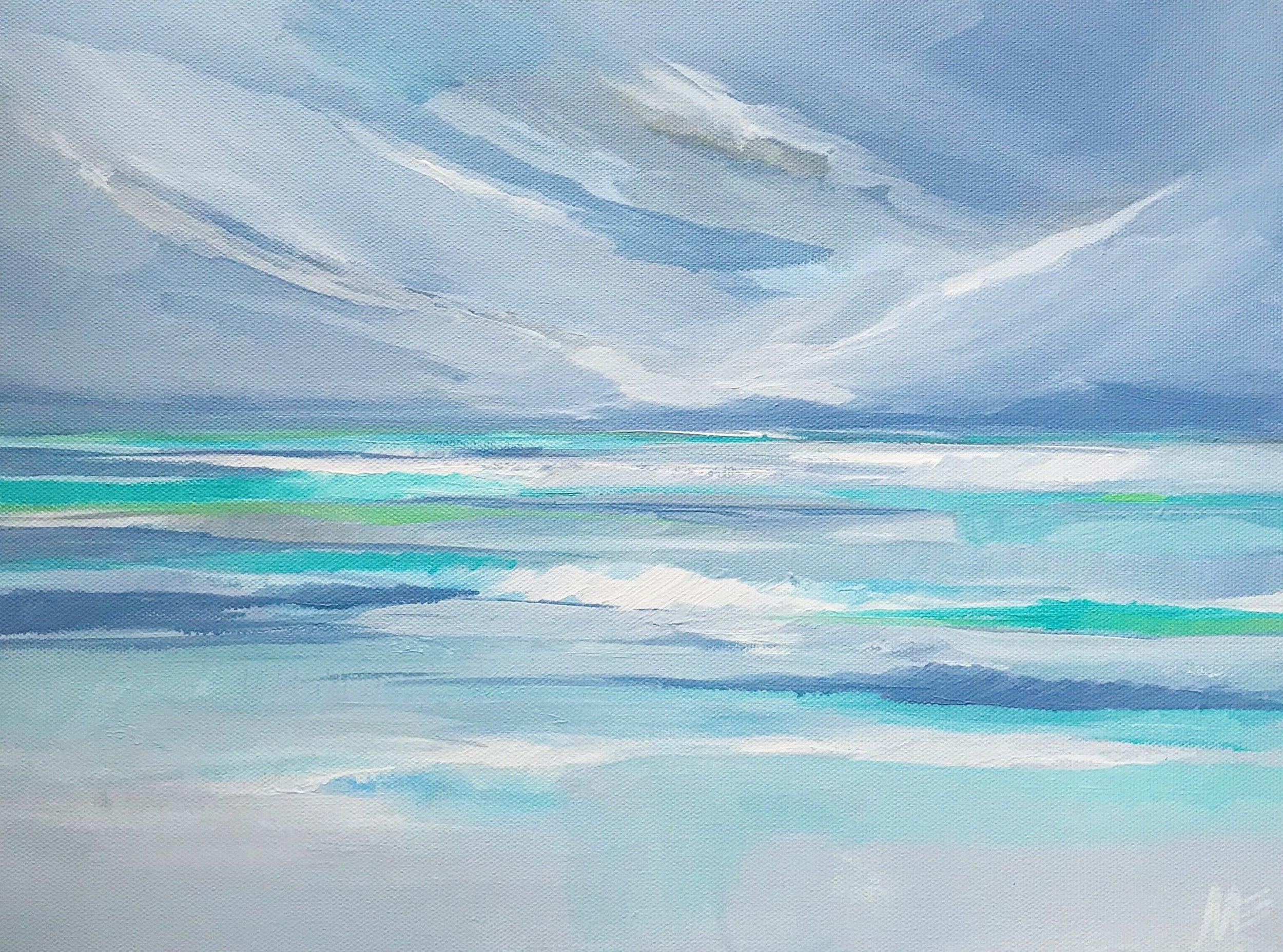 """Calm Seas"" by Megan Elizabeth of Art by Megan"