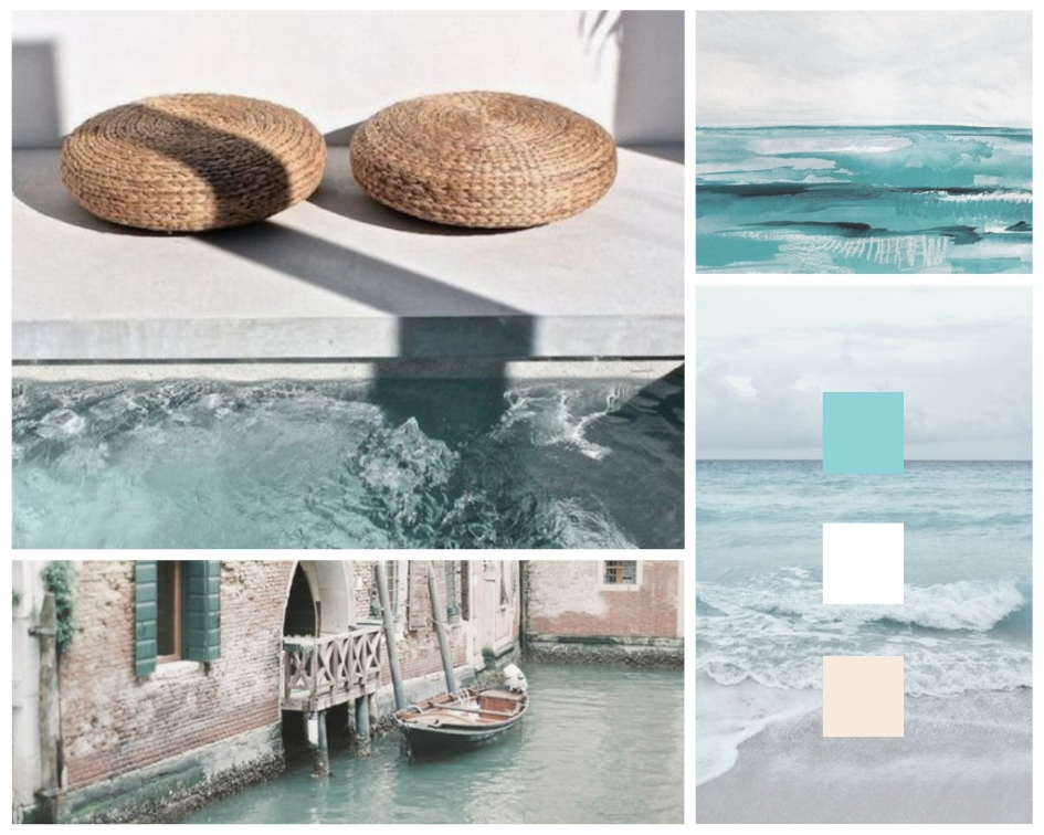 Teal and Turquoise Mood Board by Megan Elizabeth on Canva