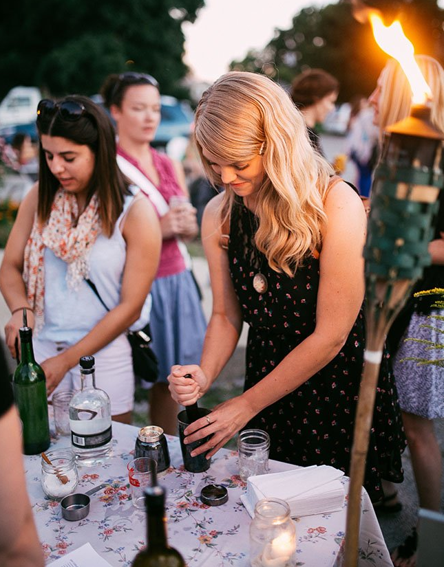 Some event goers were surprised to learn they'd be making their own drinks, but this proved to be half the fun — some women had been making cocktails for years, and for others, it was their first time.