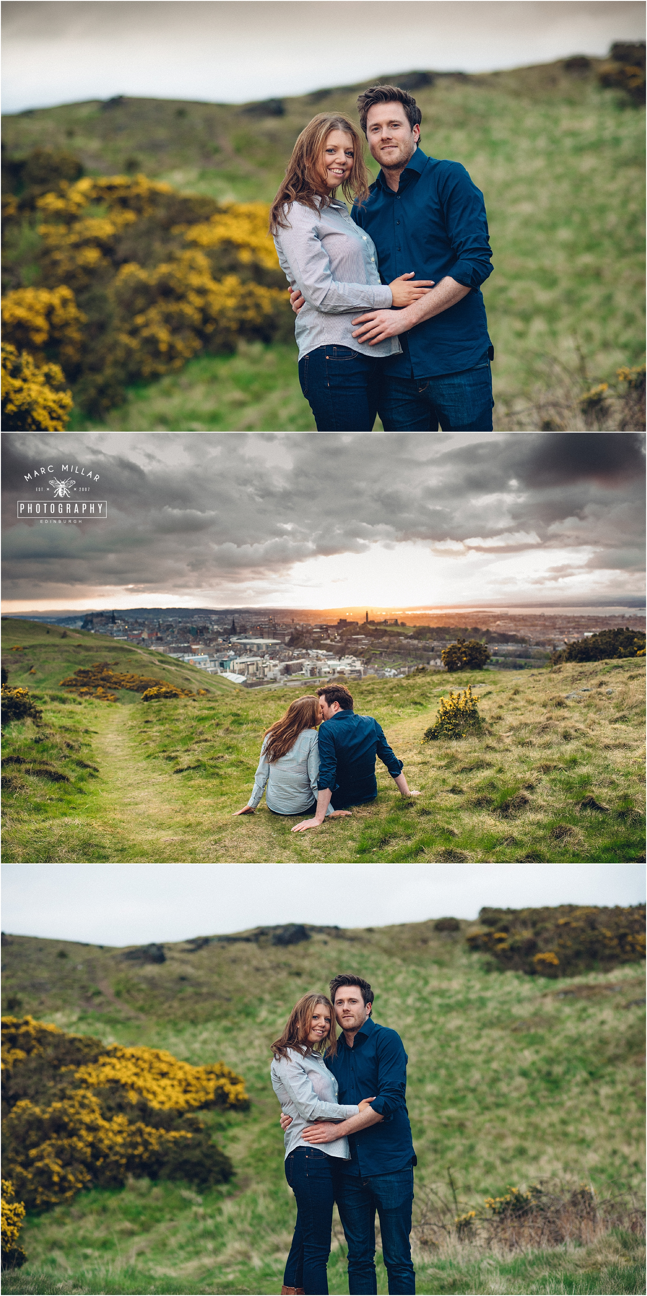 Arthurs Seat Pre Wedding shoot by Marc Millar Photography