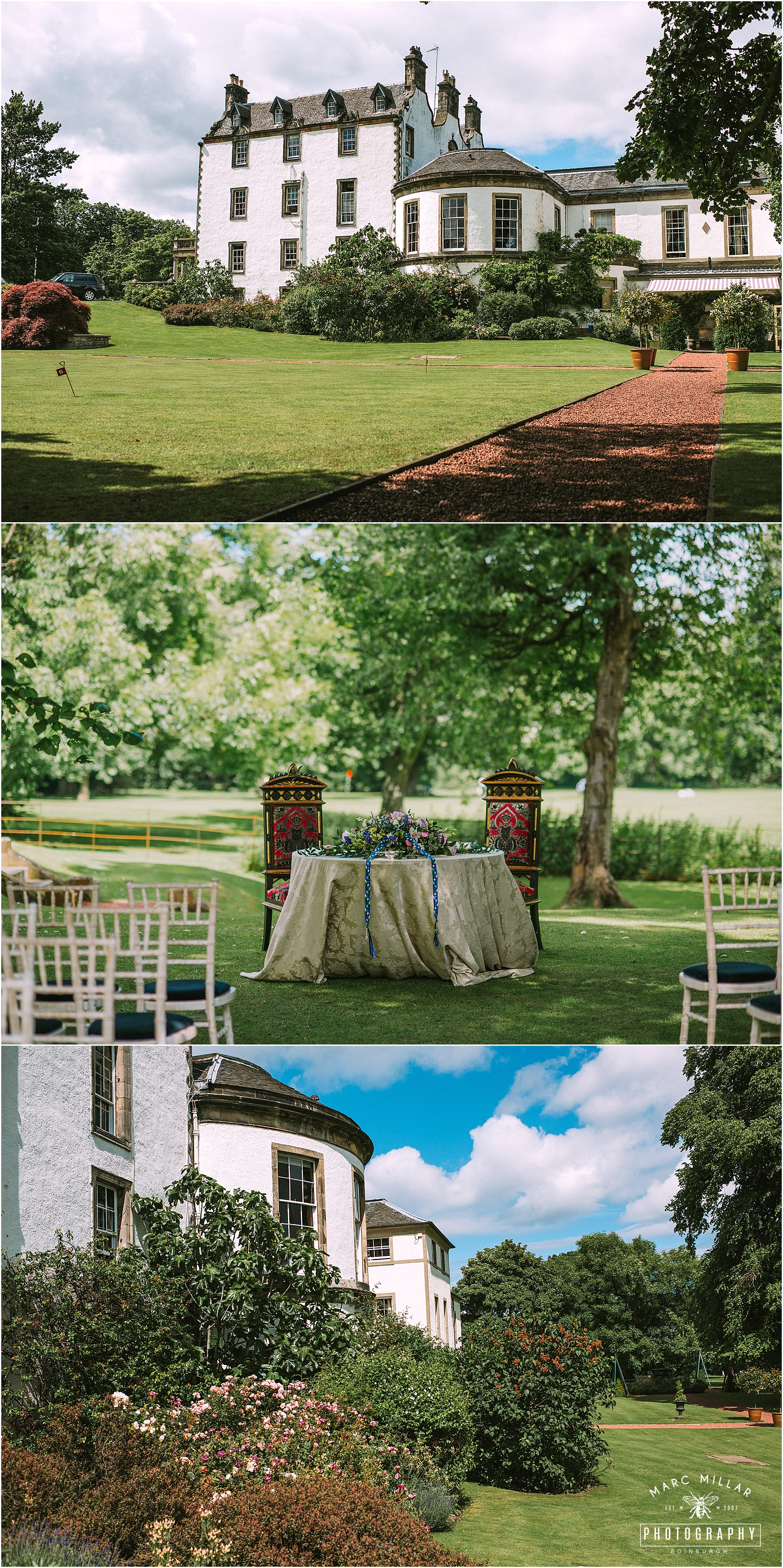 Prestonfield House Wedding Shoot by Marc Millar Photography