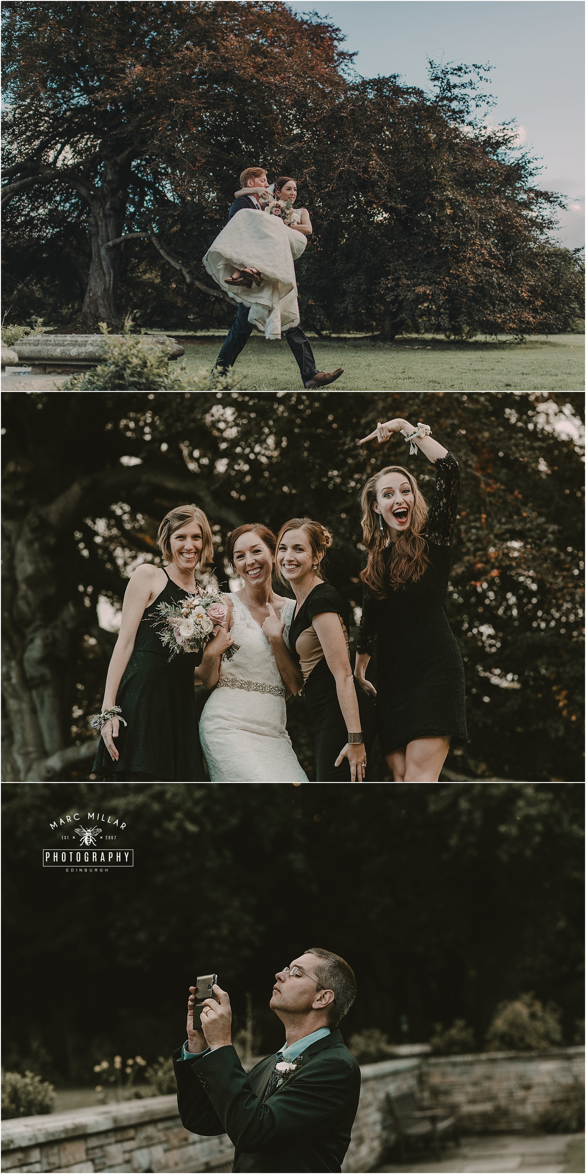 Carberry Tower  Wedding by Marc Millar Wedding Photography
