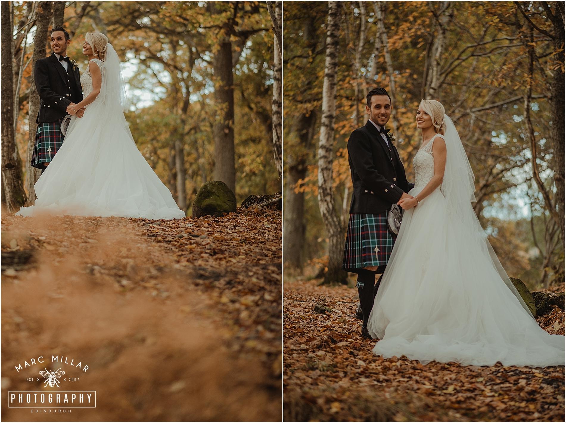 Fonab Castle Hotel Wedding Shoot by Marc Millar Photography