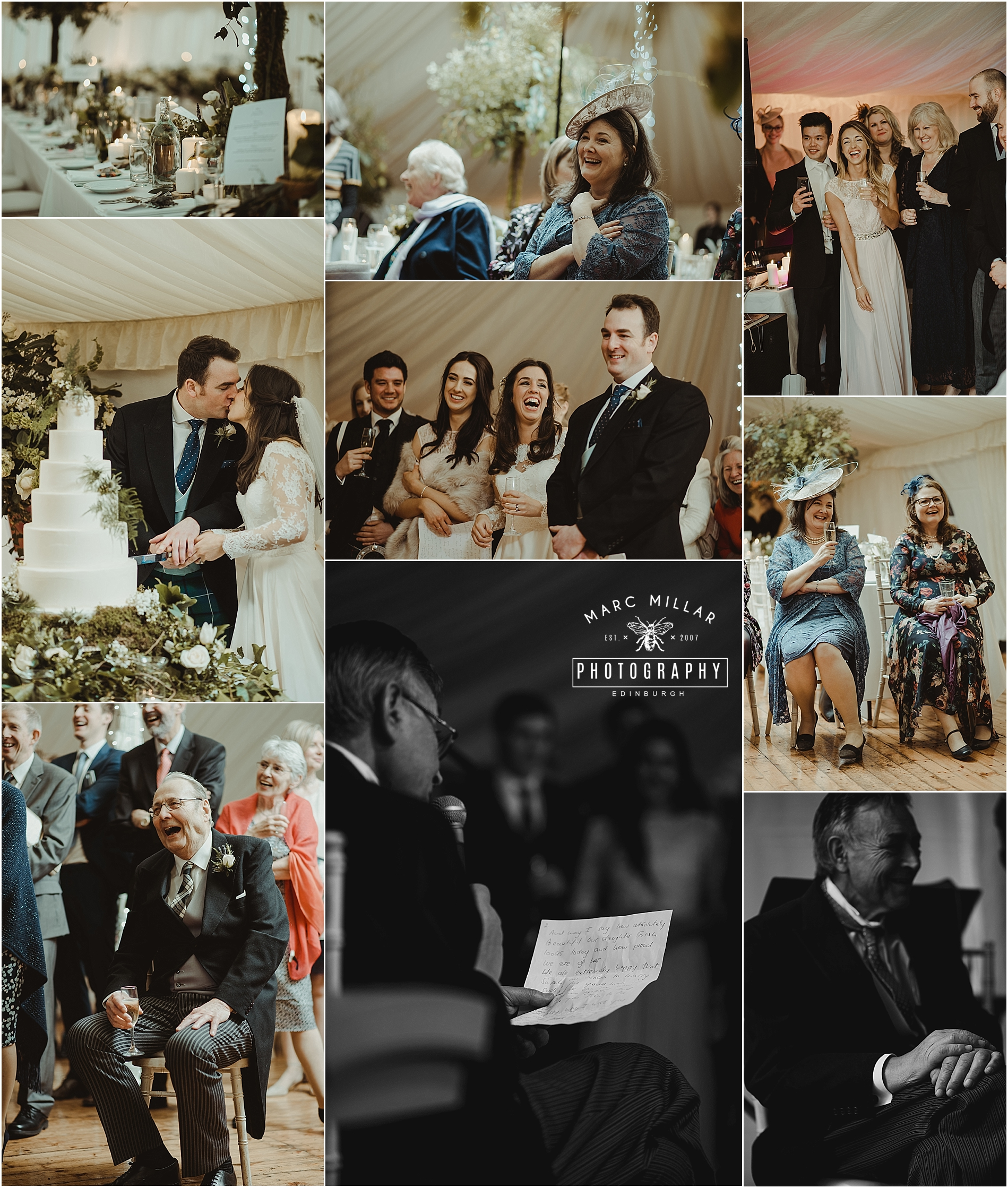 Dalmahoy Wedding Shoot by Marc Millar Photography