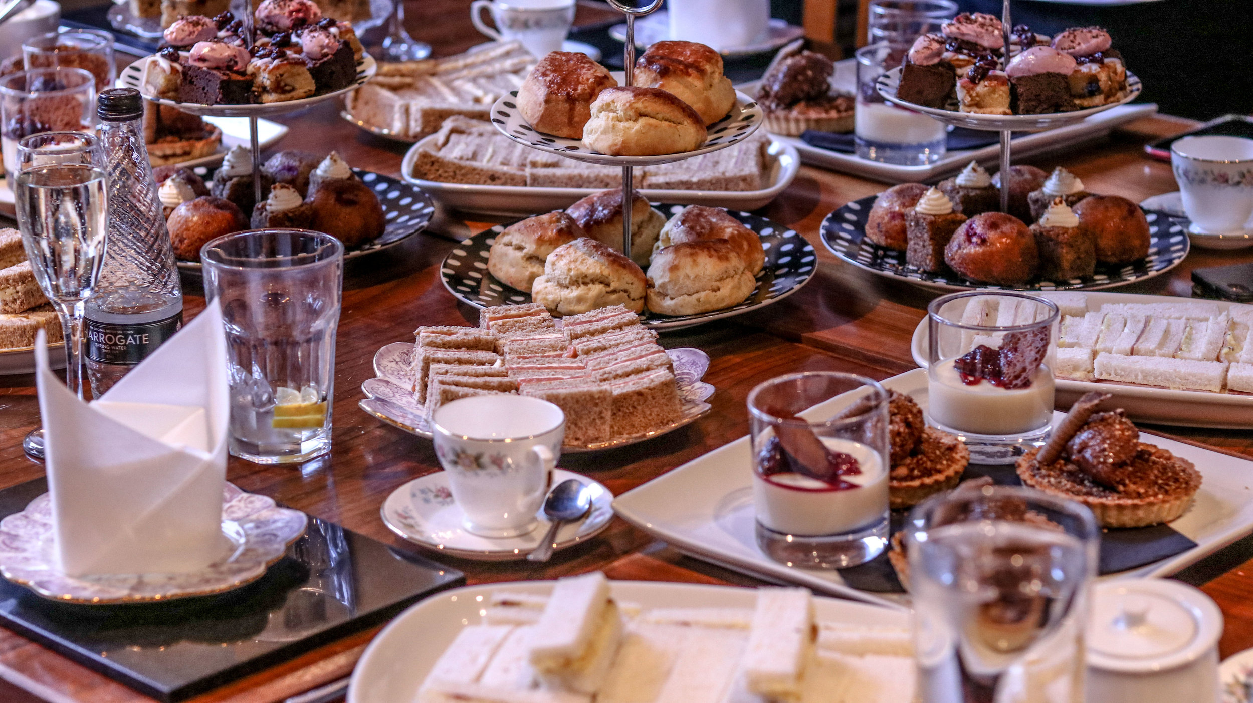 Afternoon Tea - £15 per person - Fresh scones served with jam and clotted cream, a selection of tea sandwiches, a selection of cakes along with your choice of tea or coffee.