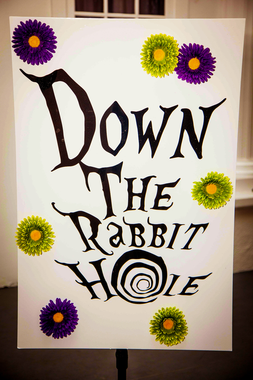 """Down the Rabbit Hole"" Sign"