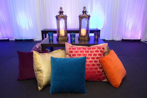 Multi-Colored Pillows & Decorative Lanterns