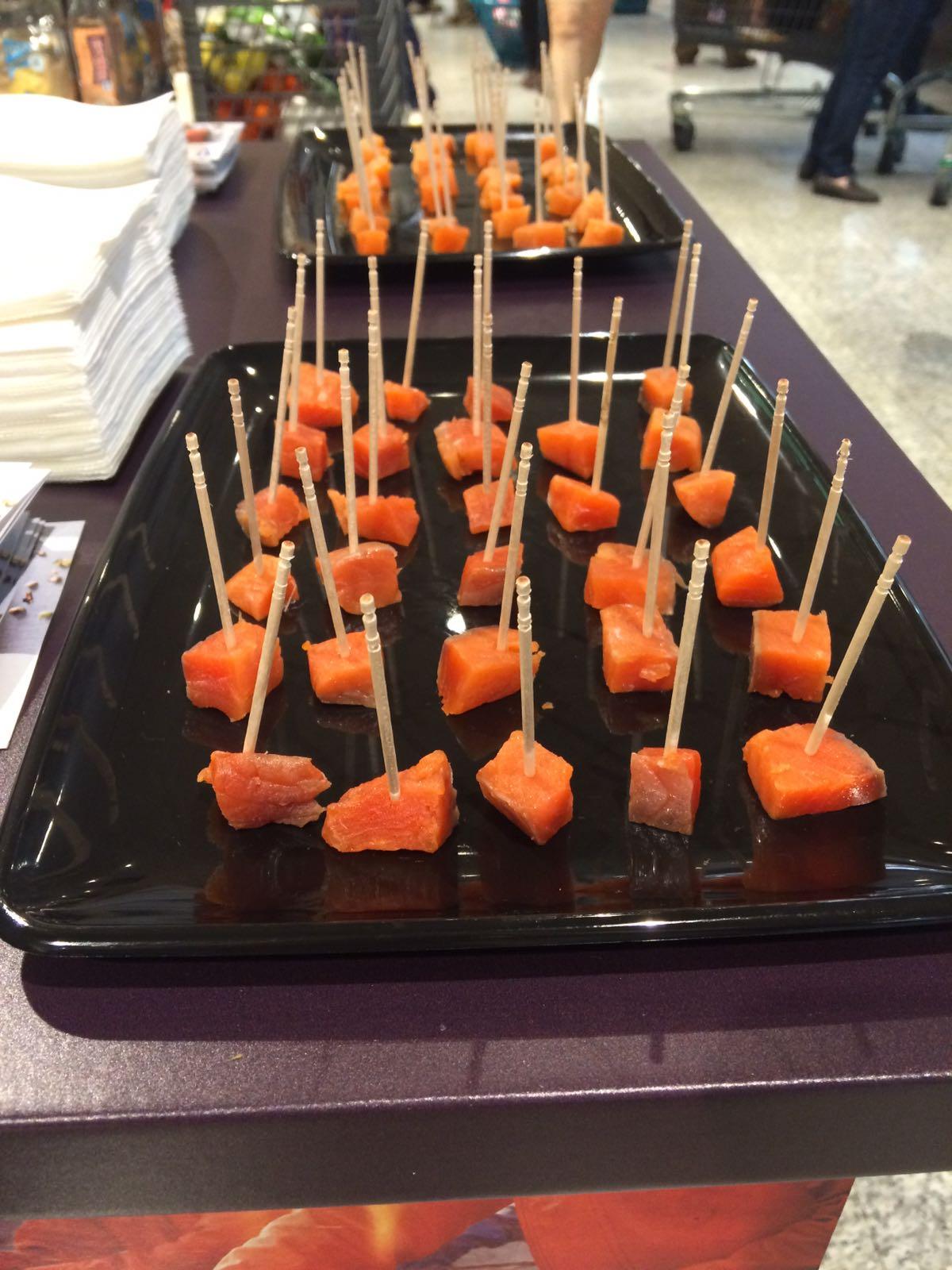 Cubed coho salmon
