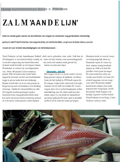 Dutch Press Alaska salmon