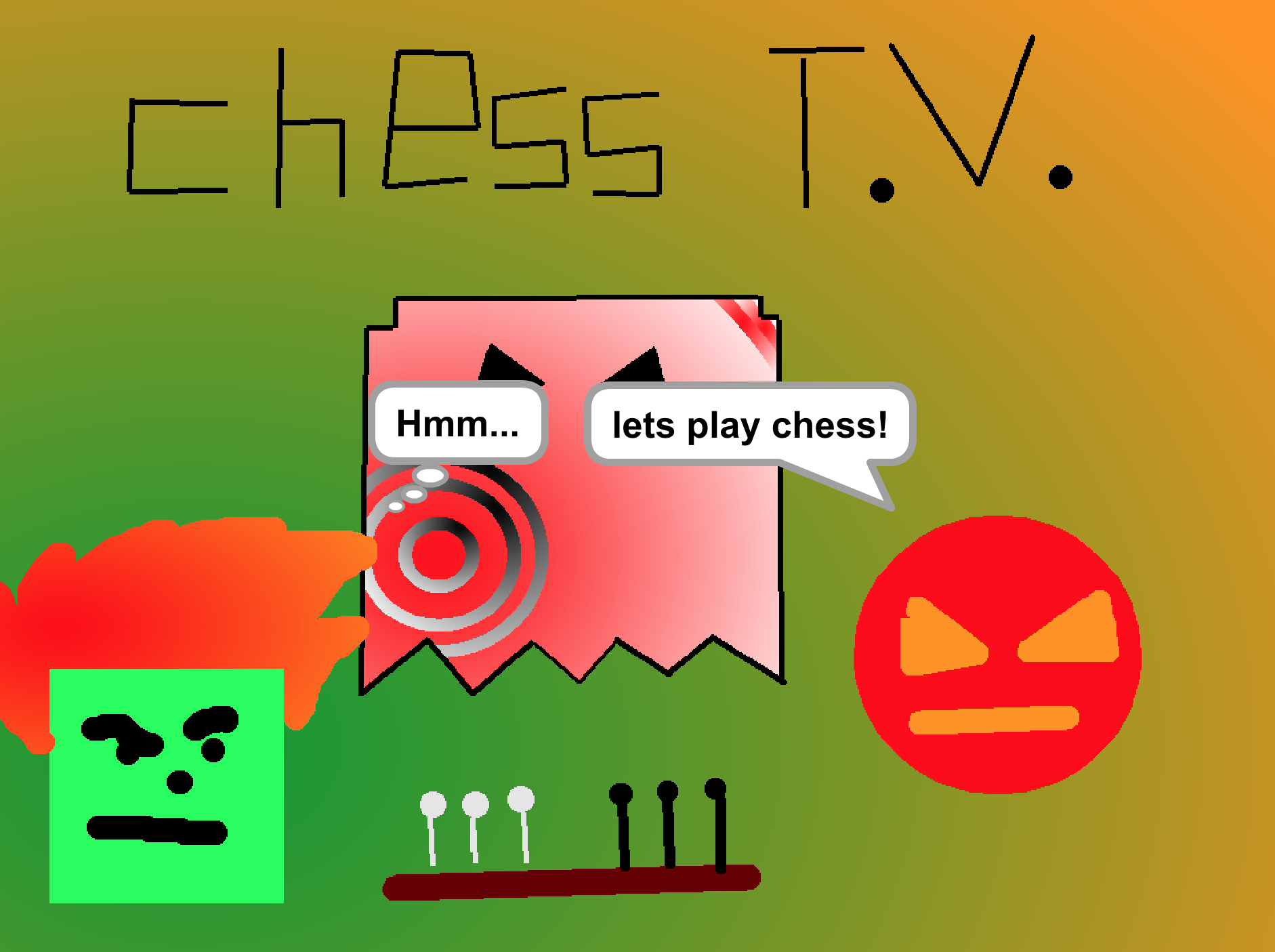 Chess T.V. - A funny movie about two little shape-people playing chess.