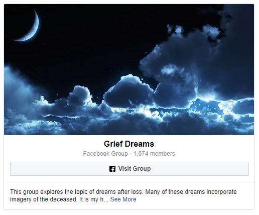 Grief Dreams Facebook Group Capture