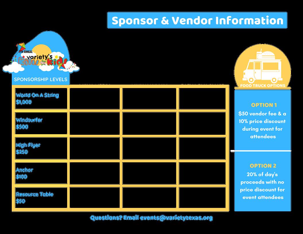 Sponsor & Vendor Info