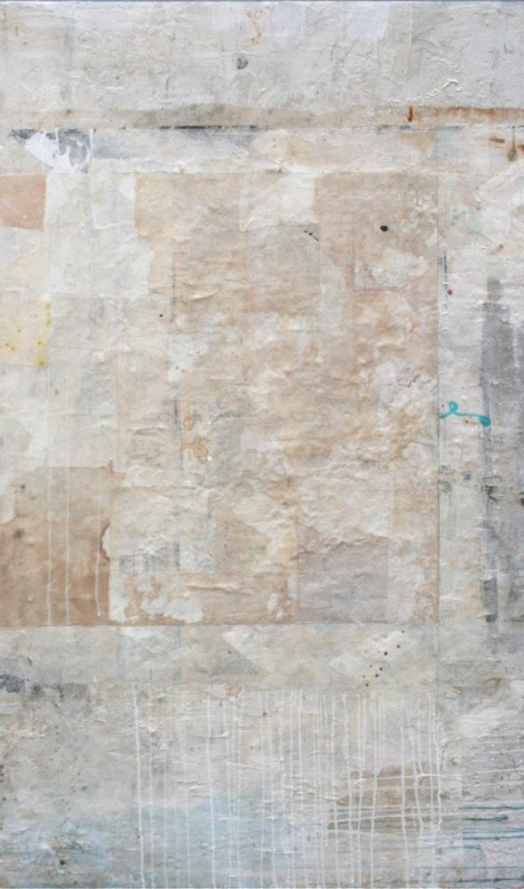 boro  mixed media on panel  60 x 30 x 2  sold