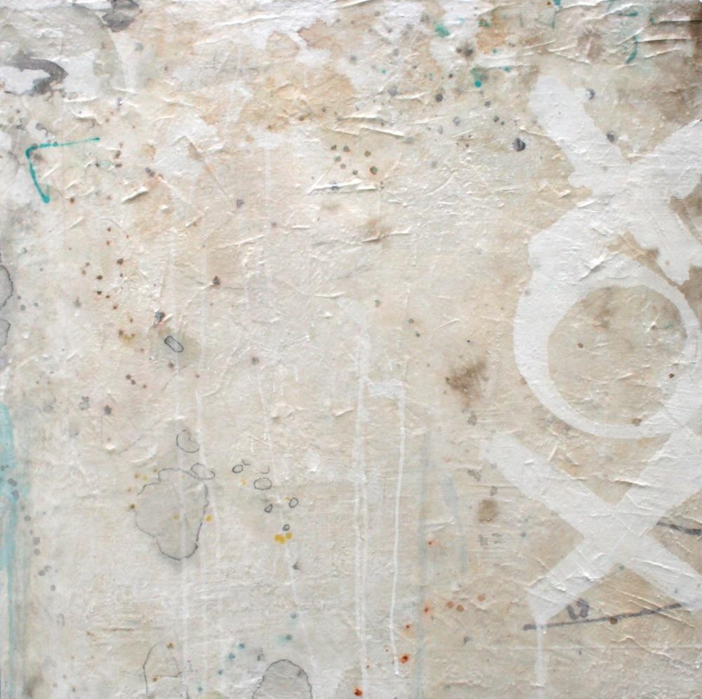 x o x o  mixed media on panel  30 x 30 x 3