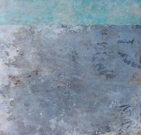ephemeral coast  mixed media on panel  46 x 48 x 2  sold