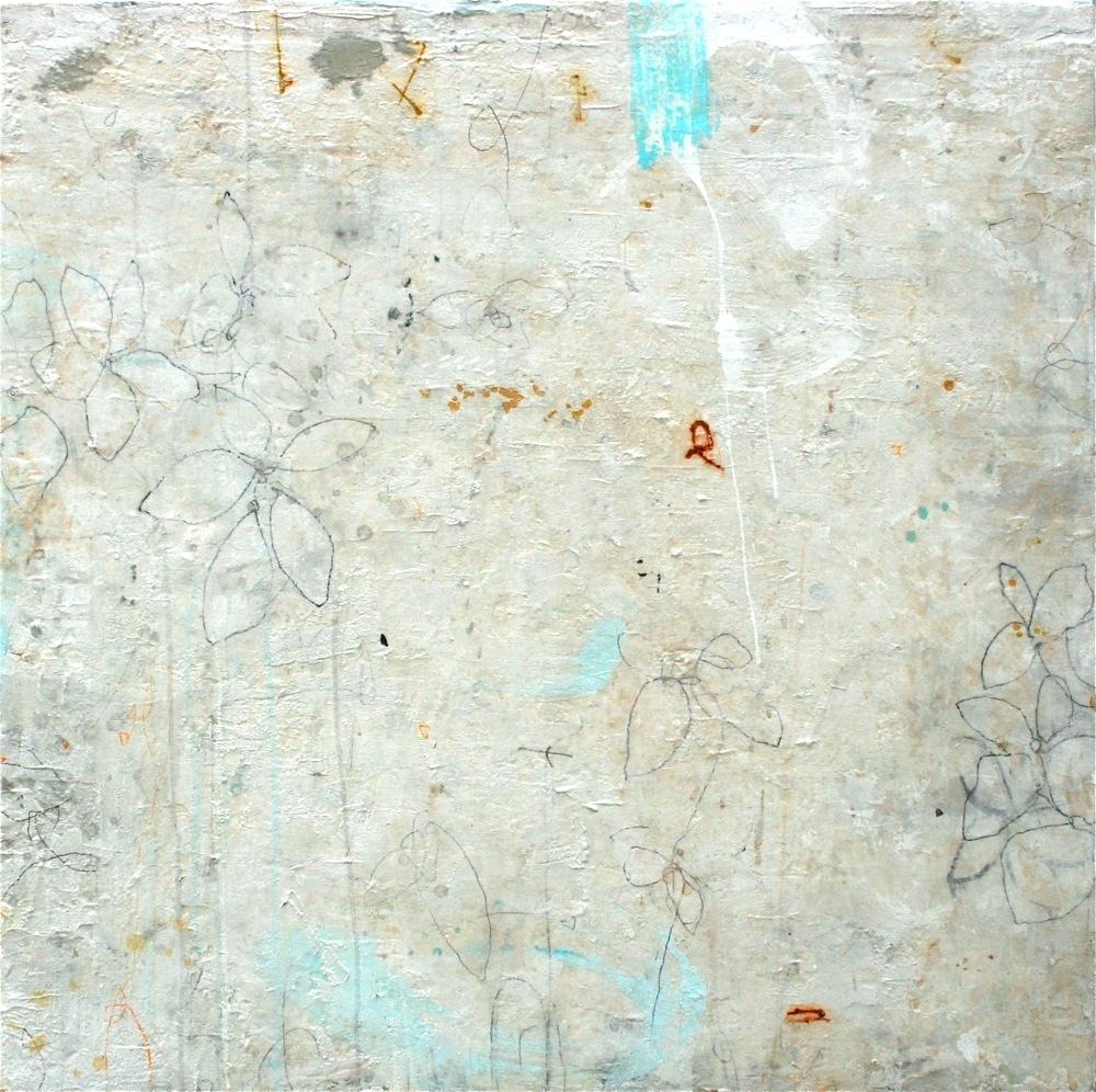 della francesca  mixed media on panel  46 x 46 x 2