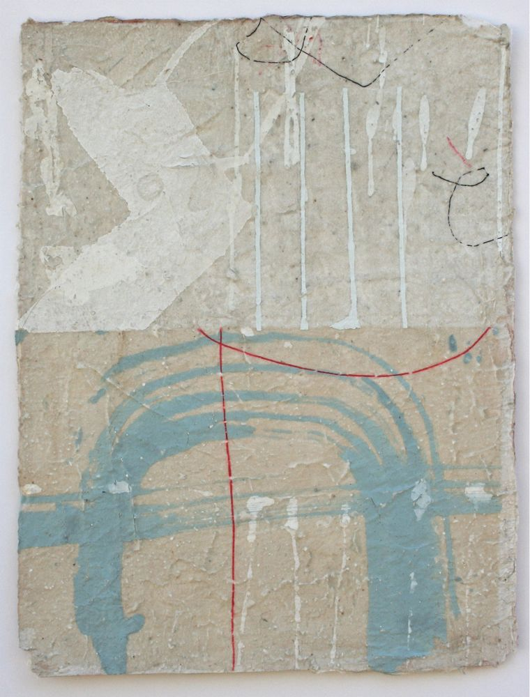 blue arch  mixed media / paper  12 x 8