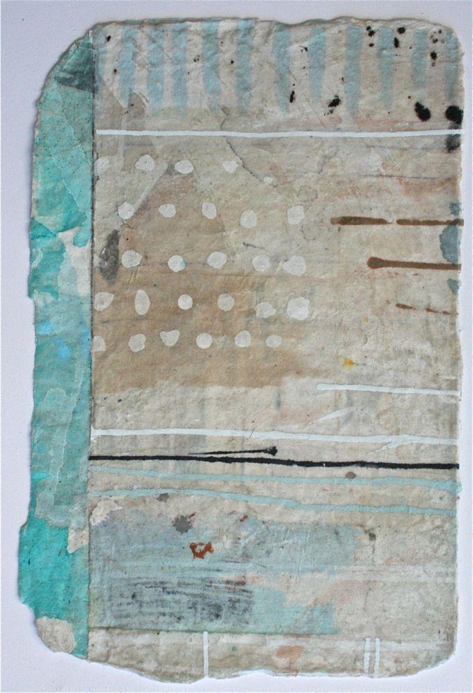 little quilt  mixed media / paper  12 x 8