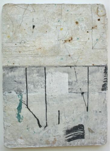 excavation  mixed media / paper / wood  23 x 17 x 1
